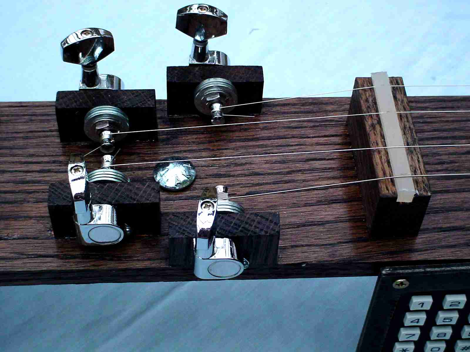 view of tuning machines